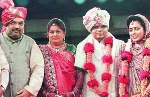 about amit shah family in hindi