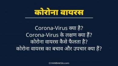 Photo of कोरोना वायरस क्या है? कोरोना वायरस के लक्षण, बचाव और उपचार