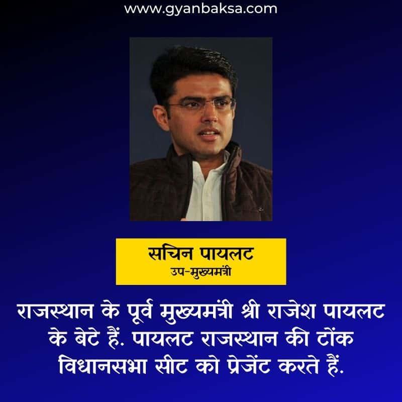Sachin Pilot Rajasthan Deputy Chief Minister