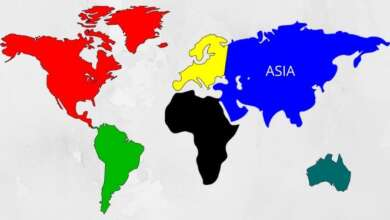 area of countries in asia