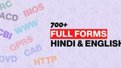 List of All Full Forms Hindi English