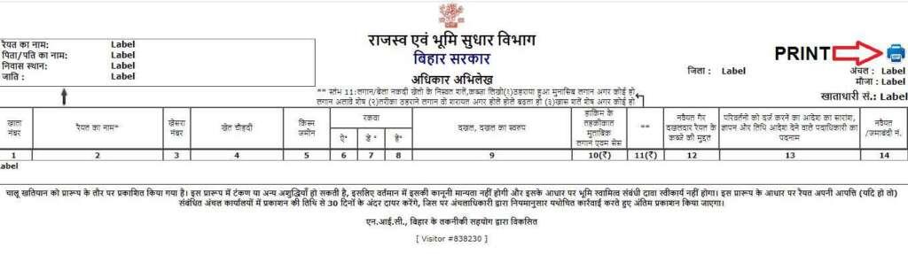bihar apna khata, khatiyan, register