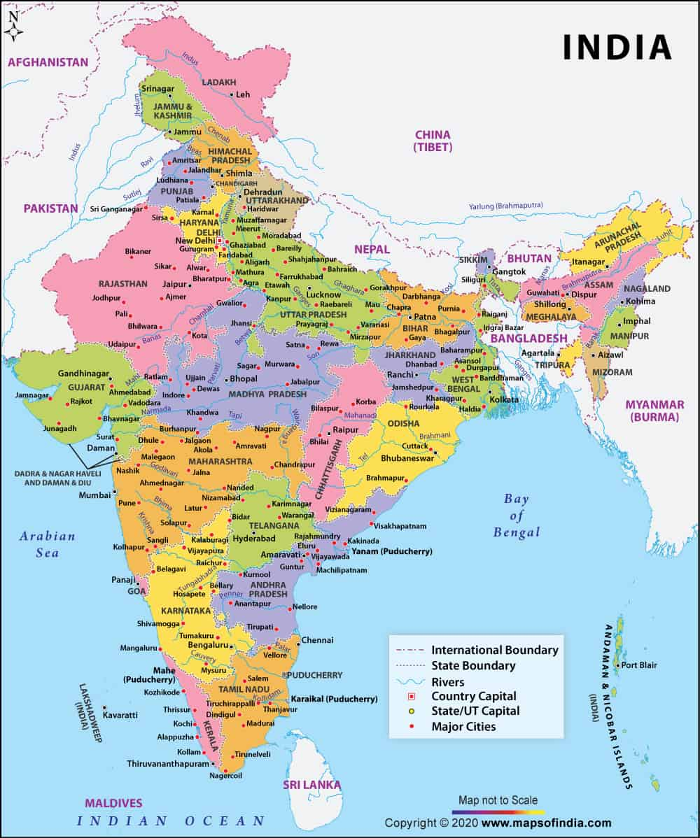 map of districts in india