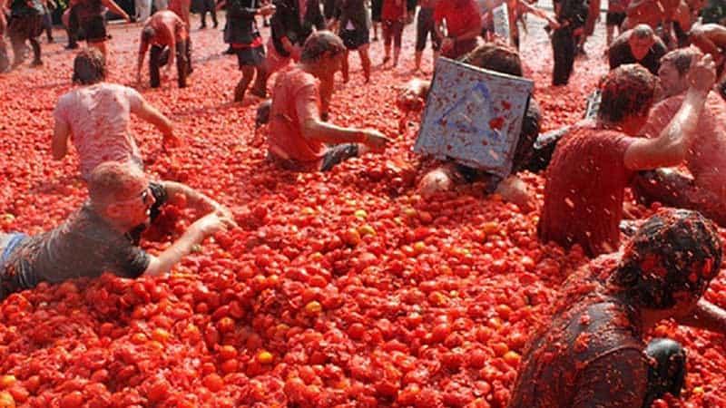 La Tomatina Festival of Spain