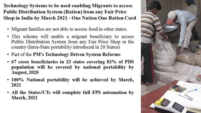 one nation one ration card scheme update