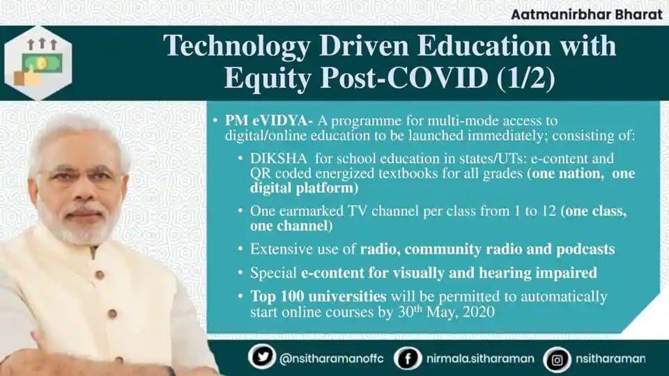 PM eVidya program Highlights