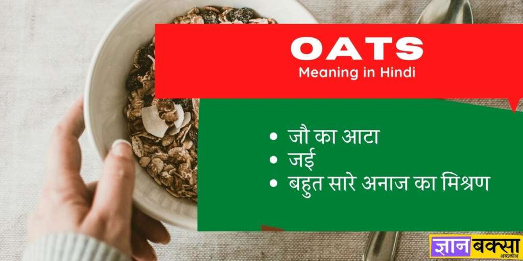 Oats meaning in Hindi