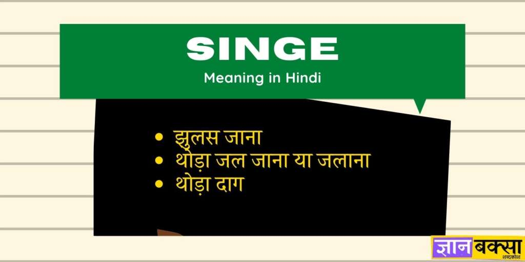Singe meaning in Hindi