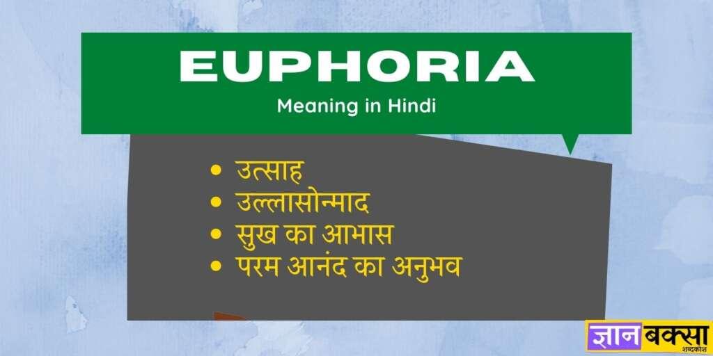 Euphoria meaning in Hindi