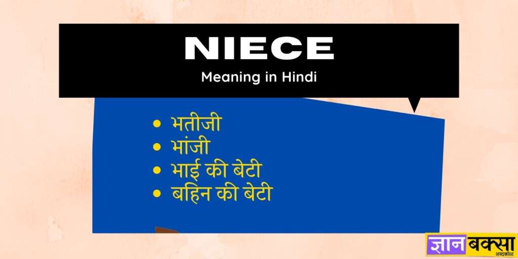 niece meaning Hindi