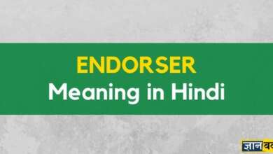 Meaning of Endorser in Hindi