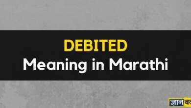 Meaning of Debited in Marathi